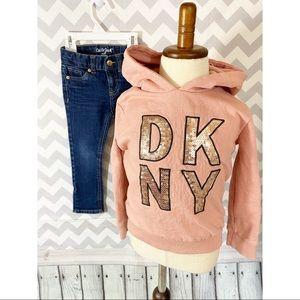 DKNY Hooded sweatshirt and Skinny Jeans pants 3T